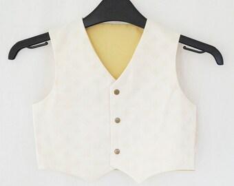 The 'Ollie' Waistcoat in Cream & Gold