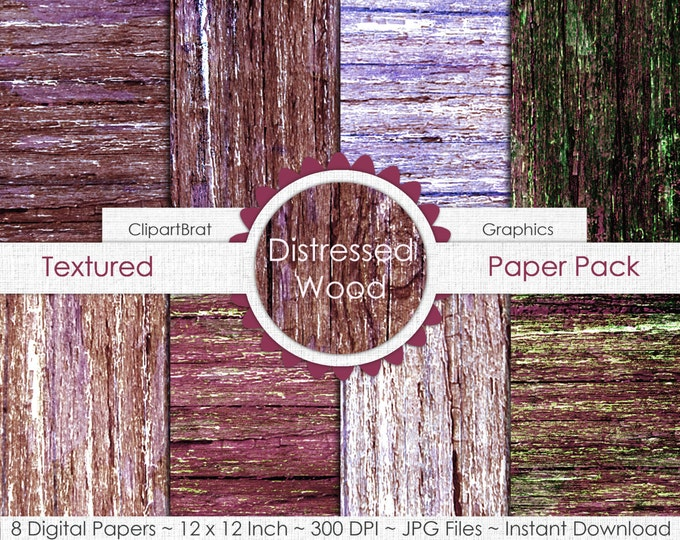 OLD BARN WOOD Digital Paper Pack Commercial Use Digital Background Green Brown Rustic Wood Grain Digital Paper Distressed Wood Digital Paper