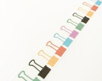 Binder Clip Print Washi Tape