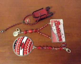 GO HOGS GO - Arkansas Razorback Christmas ornaments