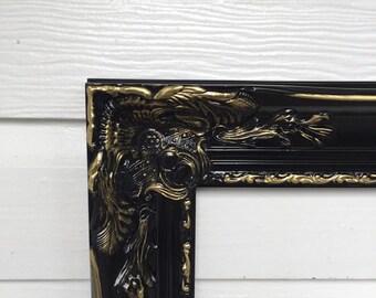 Antique Frames Large Baroque Frame Black Gold Frame Vintage Style Frame 26x22, 30x24, 34x28, 42x30
