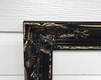 Shabby Chic Frames Large Baroque Frame Black Gold Frame Vintage Style Frame
