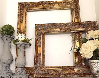 gold baroque wall frame large decorative shabby chic open ornate frame wedding photo prop for sale