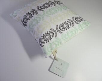 Pastie Petals Pesto Green Cushion