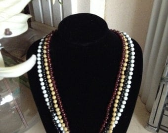 MASSIVE REDUCTIONS Art Deco Glass Bead Necklaces with Screw Clasp