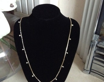20% OFF Miriam Haskell Crystal Necklace with Pearls