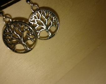 Tree of life hippy earrings. 925 stamped Silver hook.