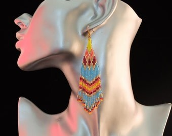 superb sparkling fillante of woven gold earrings