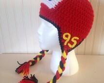 Crochet Lightning McQueen Hat, Cars hat, Disney hat, kids dress up hat, Halloween hat