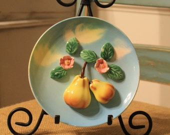 Tilso Handpainted and numbered fruit plate