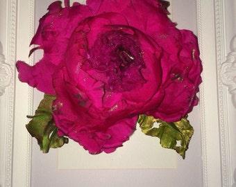 Glamorous hand made pink silk flower