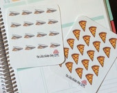 pizza stickers for your Life planner. Repositionable