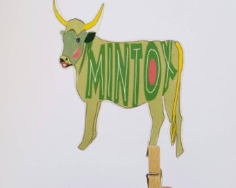 Mintox brooch or magnet // statement jewelry // shrink plastic brooch or magnet // quirky jewelry