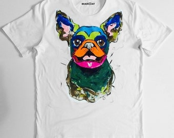 Pugdog t-shirt handmade