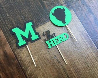 MU Cupcake Toppers Marshall University Party Lets Go Marshall Celebration Tailgate Party Cookout