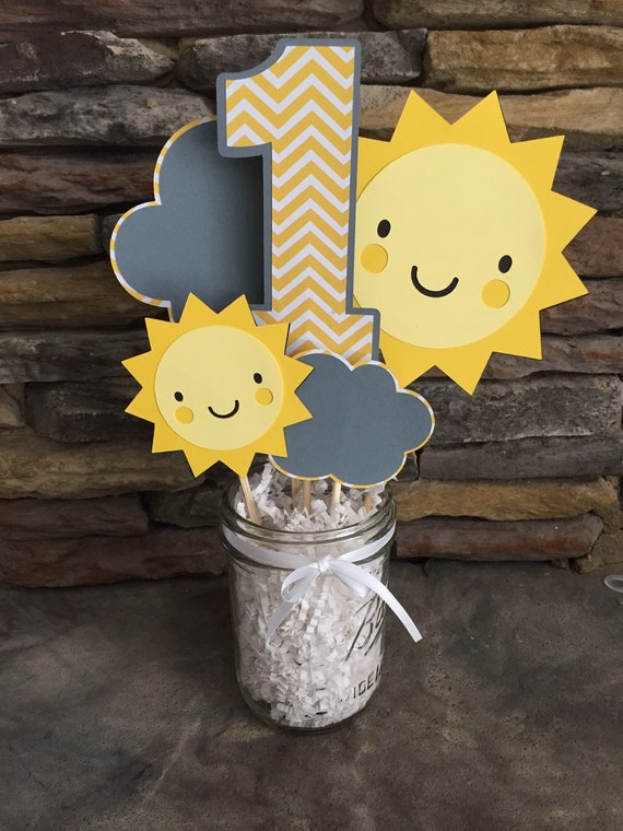 You Are My Sunshine Centerpiece Happy Birthday Sunshine Party
