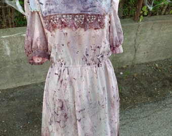 Lady's Small vintage pink zombie dress