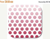 ON SALE Riley Blake, Ombre Dot in Red fabric, 1 yard