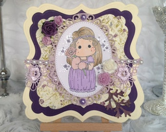 Cute Boho Tilda Card