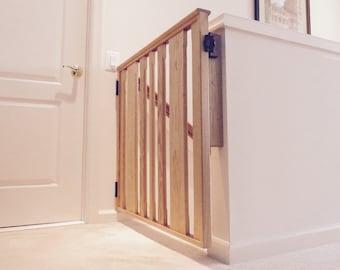 Baby / Pet / Stairway Gate or Barrier Handmade Wood Custom made to order.