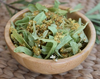 Organic Linden Flowers Dried, Loose. Tilia 1 oz
