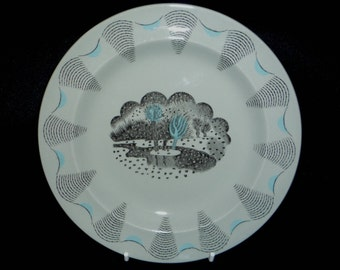 Eric Ravilious - 7 inch Travel Side Plate For Wedgwood