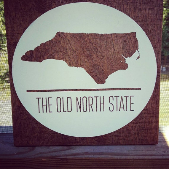North Carolina Wood Sign North Carolina By Handmadeharrisburg