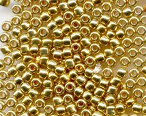 11/0 Galvanized Metallic Gold , Japanese Glass Seed Beads, 28g 471A