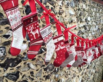 Christmas advent bunting