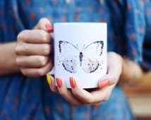 Cool Butterfly Mug - Cool Mugs - Watercolor Animals - Colorful Coffee Mug