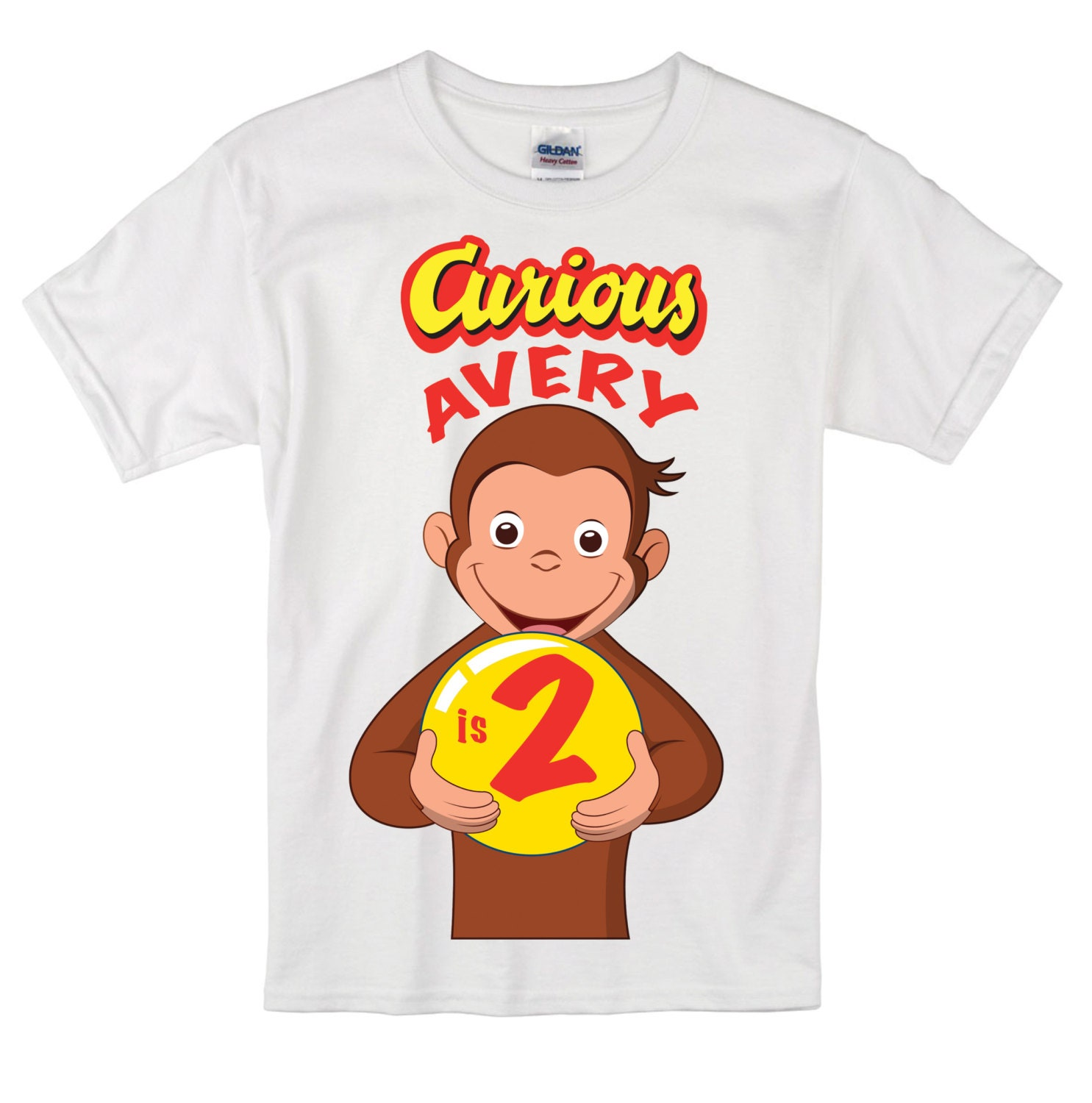 curious george birthday shirt by sonshineandblue on etsy