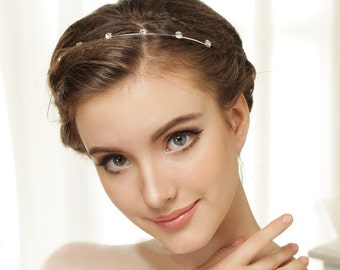 Rhinestone headband, Wedding tiara, Swarovski crystal headband, Wedding headband, Silver bridal headband, Wedding hair accessories