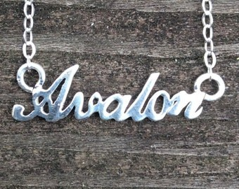 Avalon - New Jersey Shore Town Sterling Silver Necklace