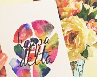 Kappa Delta Watercolor