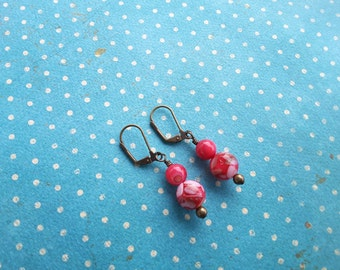 Red Confetti Dangle Earrings