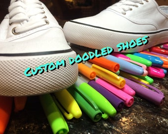 CUSTOM DOODLED Shoes