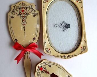 Beautiful Antique Celluloid Vanity Dresser Set