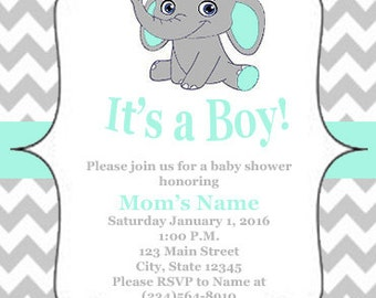 Its a boy (or girl) baby shower invitation digital download