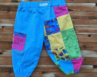 Size 00 Baby Girl Patchwork Harem Pant