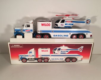 Vintage Wilco Toy Truck and Helicopter like Hess
