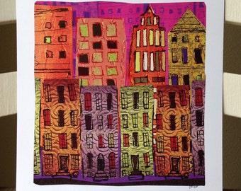 Cityscape (1) - 10x10 Art Print