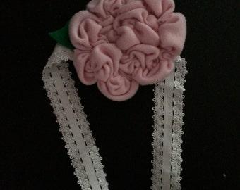 Soft pink jersey infants headband