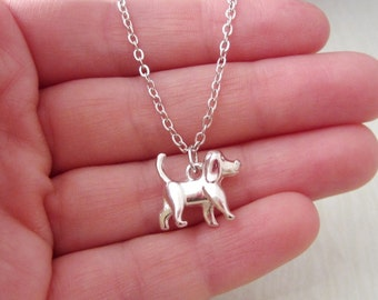 Dog Necklace - Year of the Dog - Chinese New Year Gift - Silver Puppy Jewelry - Dog Memorial Jewelry