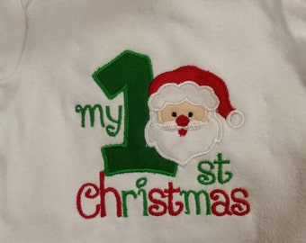 My 1st Christmas  long sleeve onesie. 0-6 mo.
