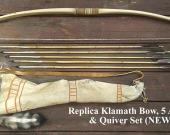 Replica Klamath Bow, Quiver, & 5 Arrows