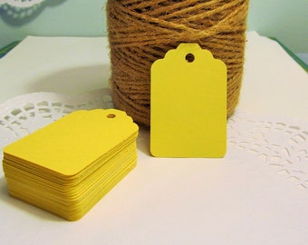 20 Yellow Wedding Tags - Price Tag - Place Cards - Merchandise Tag, Wedding Wish Tags - Bridal Showers - Favor Tags - Food Gift Tags