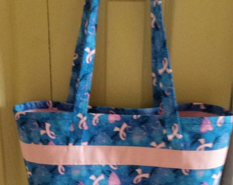 Breast cancer inspired Tote bag
