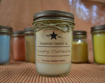 8oz. Jelly Jar Candle