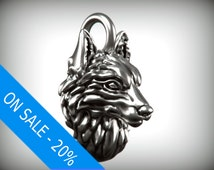 Wolf Charm - Silver (ON SALE -20%)