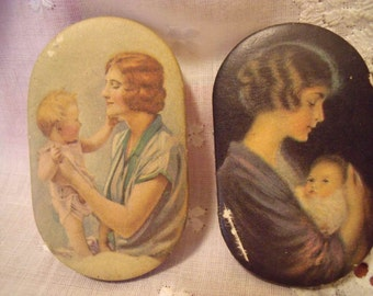 Two Vintage Prudential Insurance Advertising Pin Cushions